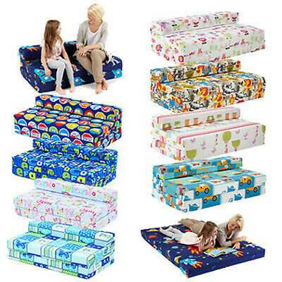 £76.47 • Buy Childrens Kids Double Guest Folding Z Chair Bed Mattress Sofa Bed Futon Fold Out