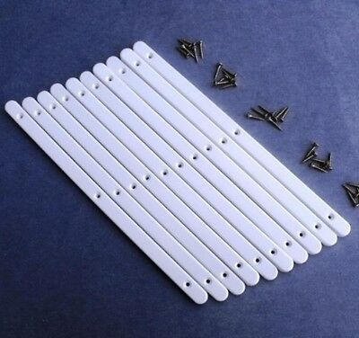 £5.99 • Buy 5 Pairs Of White Plastic Drawer Runners & Screws For Furniture