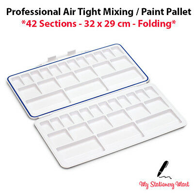 £8.99 • Buy 42 Well Paint Palette XL Mixing Pallet Mixing Palette Artists AIR TIGHT Folding