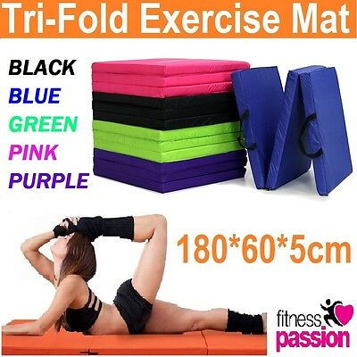 AU45.99 • Buy Folding Exercise Floor Mat Dance Yoga Gymnastics Training Home Judo Pilates Gym