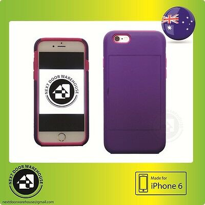 AU5.99 • Buy Bicolor Purple/Pink Iphone 6 6s Hard Case Kickstand Stand Card Holder 4.7  Inch