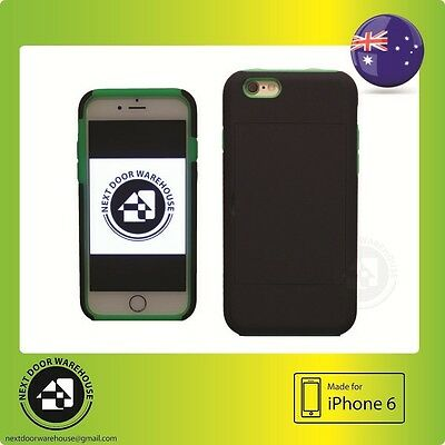 AU5.99 • Buy Bicolor Black/Green Iphone 6 6s Hard Case Kickstand Stand Card Holder 4.7  Inch