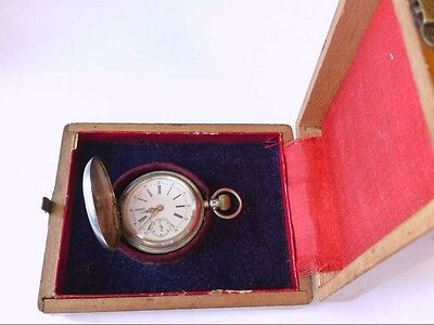 Ant/Vtg Remontoir Cylindre 10 Rubis .875 Silver DH Pocket Watch. PARTS/RESTO • 109.71£