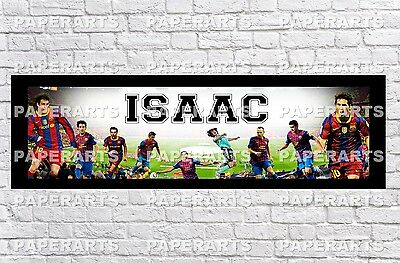 Personalized FC Barcelona Name Poster With Border Mat Art Painting Banner  • 13.14£