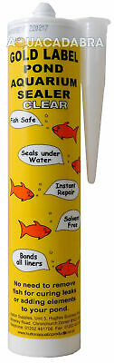 GOLD LABEL CLEAR SEALANT 290ml LINER REPAIR GARDEN UNDERWATER LEAK KOI FISH POND • 19.99£