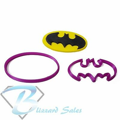 Batman Cookie Fondant Cutter 5cm 7cm 10cm Set Birthday Birthday Cake Superhero • 12.89£