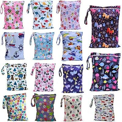 AU9.90 • Buy Waterproof Wet Bag 30x40cm For Nappies, Swimming, Wet Clothes, Nappy Bags Large