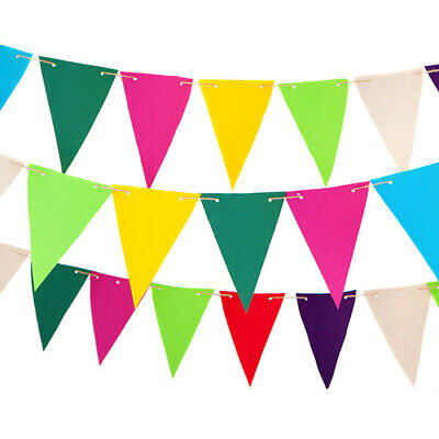 £9.97 • Buy Fabric Outdoor Garden Bunting In Choice Of Colours Patio Decor Water Resistant