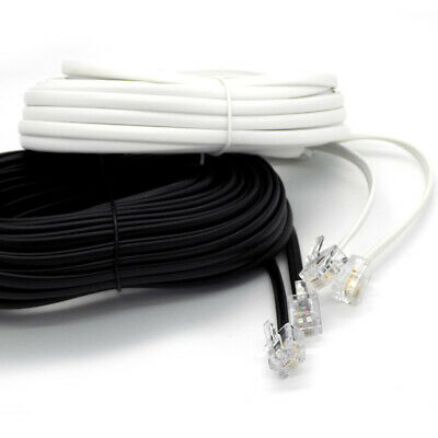 2m Up To 25m Meter RJ11 To RJ11 Cable ADSL Phone Line Broadband Lead Best Price! • 3.25£