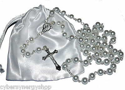 First Holy Communion Rosary Beads - 1st Communion Present  - Girls & Boys Gift • 4.99£