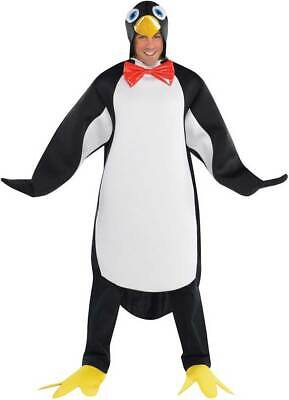 Adult Penguin Pal Costume Happy Feet Bird Fancy Dress Outfit STD & Plus Size New • 18.99£