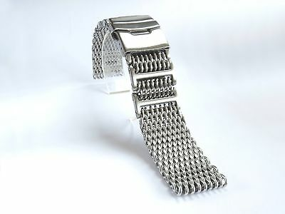 $ CDN50.54 • Buy 22mm Heavy Shark Mesh Brushed Stainless Steel 4 SEIKO 7S26,SKX007,SKX009,SKX011