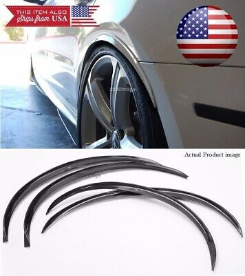 $25.96 • Buy 2 Pair Black Flexible 1  Arch Wide Body Fender Well Extension Lip For Mitsubishi