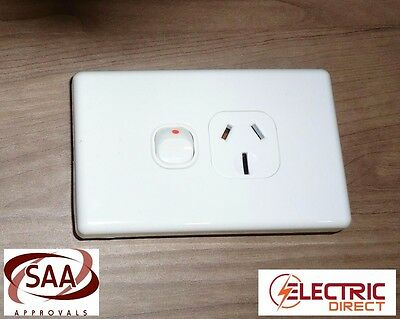 AU22.80 • Buy 4 X SINGLE 15 AMP 15A POWER POINT SOCKET OUTLET IN WHITE GPO
