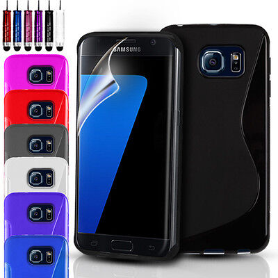 $ CDN3.96 • Buy S-Line Silicone Gel Case Cover For Samsung Galaxy S7 S7 Edge & Screen Protector