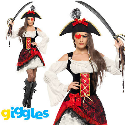 Pirate Costume Womens Ladies Glamorous Halloween Wench Female Fancy Dress Outfit • 29.80£