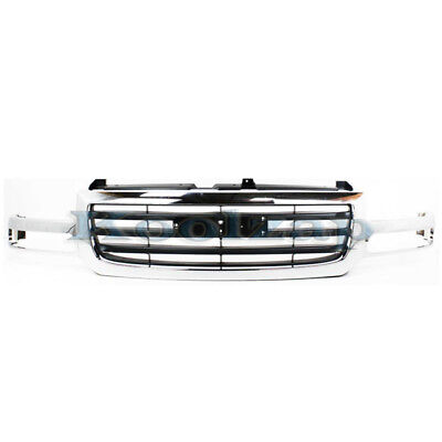 $206.95 • Buy 02-07 Sierra Pickup Truck Front Grill Grille Assembly Chrome GM1200475 19130791