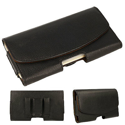 £4.95 • Buy For IPhone 13/12/11 Pro Max, 8/7 Plus Leather HOLSTER Pouch Case Belt Clip Loop