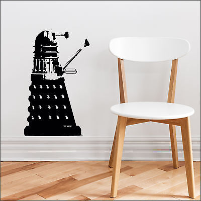 Dr Who Dalek Wall Art Sticker 55x34cm 22x14inch Cut Vinyl Decal Choice 9 Colours • 6.74£
