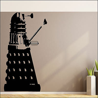 LARGE DR WHO DALEK CHILDRENS BEDROOM WALL ART MURAL STICKER 2-6ft VINYL TRANSFER • 13.04£