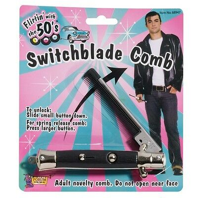 AU15.95 • Buy Switchblade Knife Flick Comb Rock Roll Teddy Boy Grease Costume Party Accessory