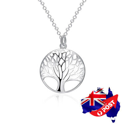 AU4.85 • Buy New 925 Sterling Silver Filled Tree Of Life Charm Pendant Necklace Jewelry Gift