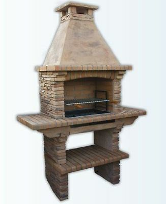 £869 • Buy Stone Masonry Barbecue BBQ With Grill And Side Tables