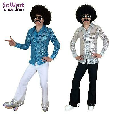 AU33.85 • Buy Fancy Dress Mens Costume 70s 1970s 80s 90s Rock Disco Nights Shirt & Flares Suit