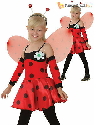 Girls Ladybird Costume Ladybug Insect Bug Fancy Dress World Book Day Outfit Kids • 10.95£