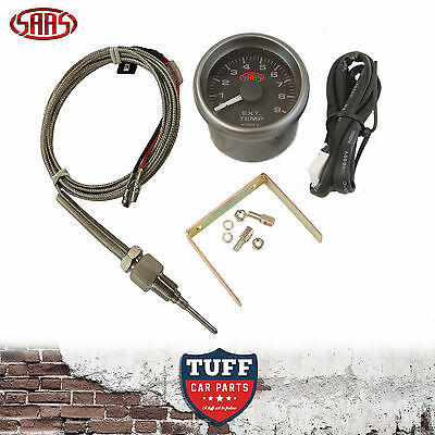 AU139 • Buy SAAS Exhaust Temp Pyro Gauge Black Face 0-900 52mm Multi Colour + Sender & Kit