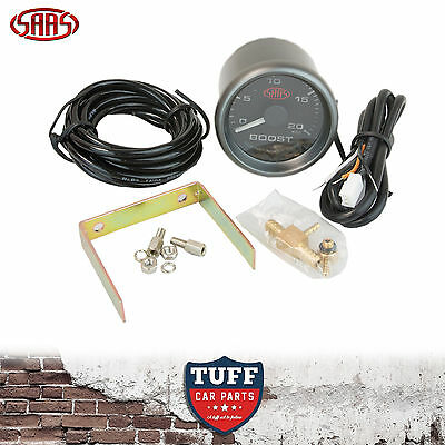 AU60 • Buy SAAS Turbo Diesel Boost Gauge Black Face Dial 52mm Multi Colour + Fitting Kit