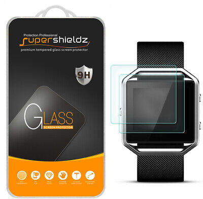 $ CDN9.50 • Buy 2x Supershieldz Tempered Glass Screen Protector Saver Shield For Fitbit Blaze