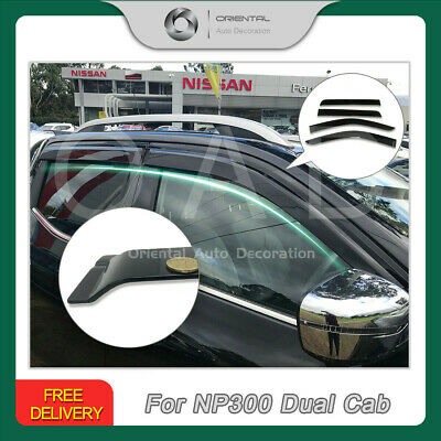 AU65 • Buy Injection Weathershield Weather Shields Window Visor Fits Nissan NP300 D23 NEW S