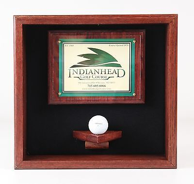 Golf Ball Scorecard Display Case #1730  --MADE IN WISCONSIN-- • 41.85£