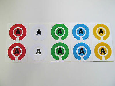 £1.99 • Buy Lawn/Indoor/Crown Green Bowls Stickers ID Markers With Initials (PAIR)