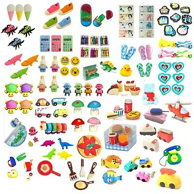 Assorted Novelty & 3d Erasers Rubbers Collectable Stationery (Choice Listing) • 1.50£