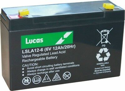 £18.50 • Buy 6V 12Ah RECHARGEABLE Battery - PEG PEREGO, FEBER, INDUSA - ELECTRIC TOY CARS
