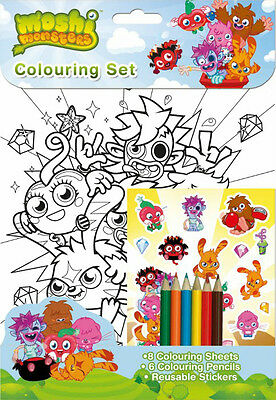 £2.95 • Buy Moshi Monsters Colouring Set / Birthday Party Loot Stickers