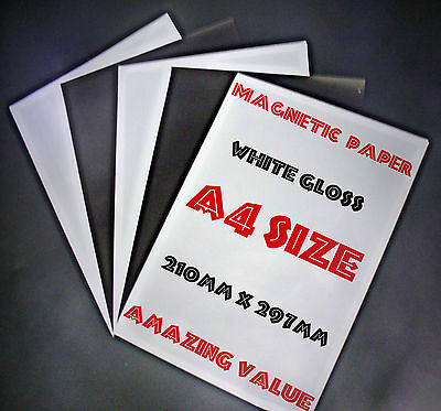 £4.75 • Buy MAGNETIC A4 5off Photo Paper Ideal For Making Fridge Magnets DIY PC Printable