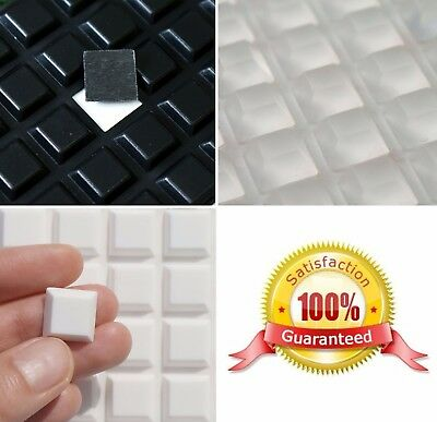 £4.45 • Buy Large Or Small 3M RUBBER FEET Self Adhesive RUBBER FEET Pads ~ CLEAR BLACK WHITE