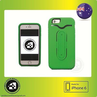 AU9.99 • Buy Heavy Duty Green IPhone 6 6s Tough Hard Case 4.7  Kickstand Stand Card Holder