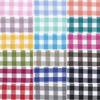 $13.46 • Buy 100% Yarn Dyed Cotton Fabric John Louden 9mm Gingham Check Squares 144cm Wide