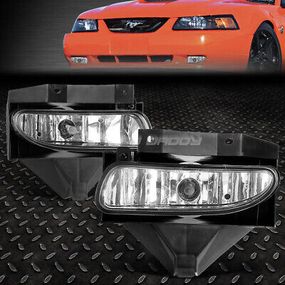 $21.88 • Buy For 99-04 Ford Mustang Gt Clear Lens Bumper Driving Fog Light Replacement Lamps
