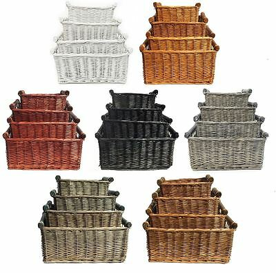 Large Wicker Log Basket Storage Logs Firewood Fireplace Wood Carrier Hamper Gift • 15.99£