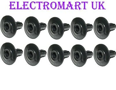 £3.68 • Buy 10 X Single Grommets Tv Coax Coaxial Cable Tidy Wall Bushes Entry Exit Black