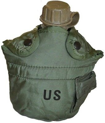 $ CDN18.14 • Buy NEW Military Issue 1Qt Canteen & 1Qt Cover Olive Drab Green With Alice Clips