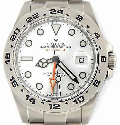 $ CDN12169.95 • Buy Men Rolex Stainless Steel Explorer II Watch 42mm Orange Hand W/White Dial 216570