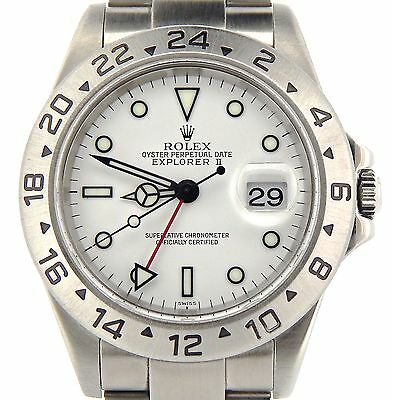 $ CDN9934.65 • Buy Rolex Stainless Steel Explorer II Date Watch SEL  No Holes  40mm White 16570T
