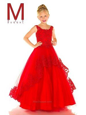 $295 • Buy Sugar 48391 Red Lace Tulle Girls Pageant Gown Dress Sz 14