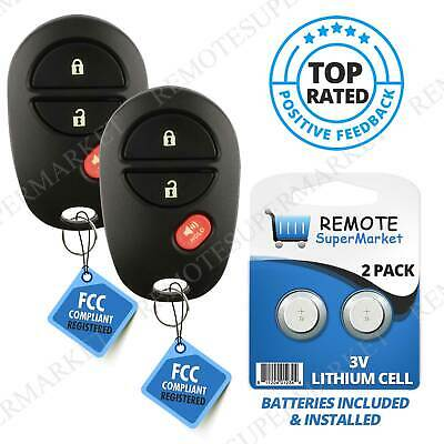 $ CDN17.56 • Buy Replacement For Toyota 2004-2015 Sienna Tacoma Remote Car Keyless Key Fob Pair